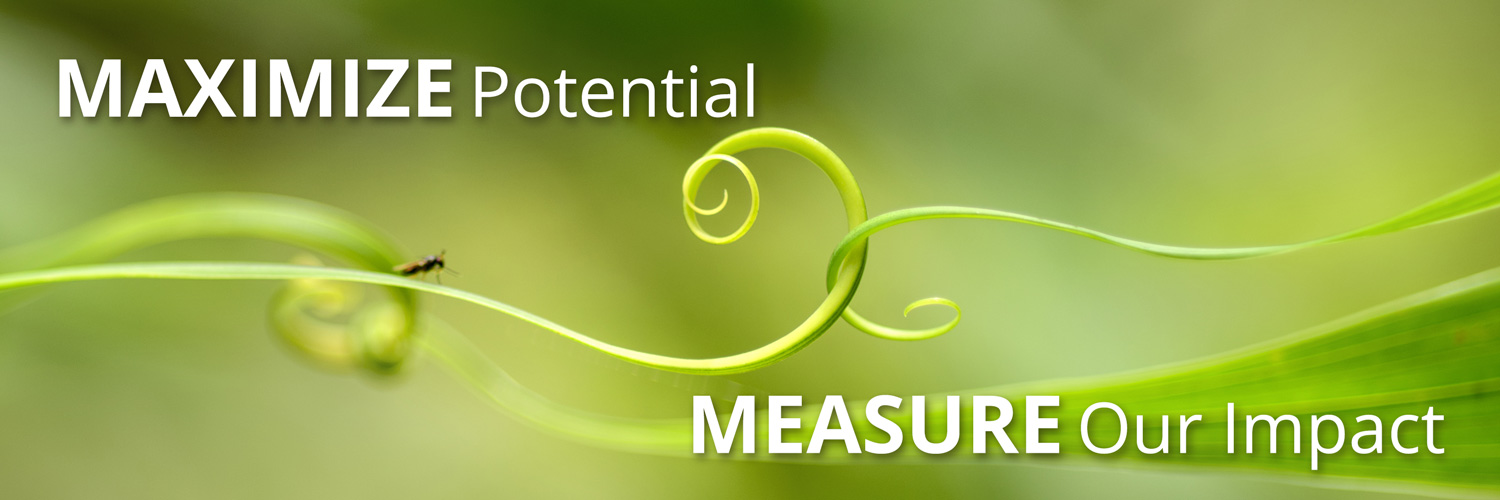 MAXIMIZE POTENTIAL, MEASURE OUR IMPACT